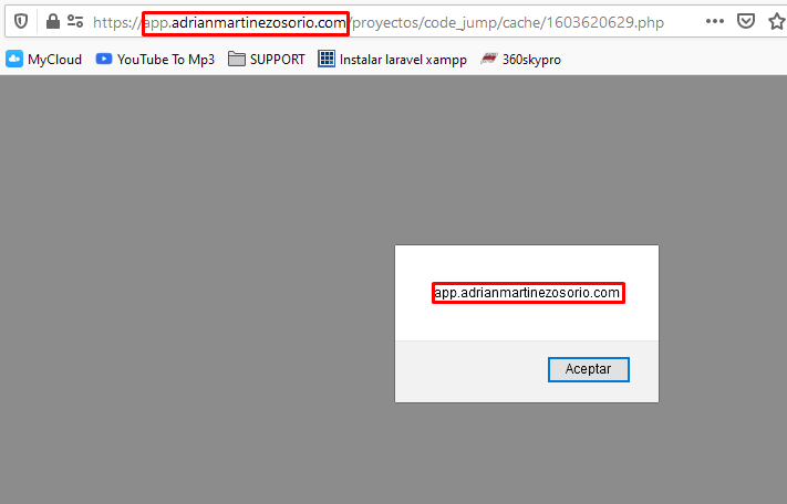 Obtener dominio con JavaScript