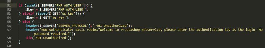 Webservice Api 401 unauthorized PrestaShop 1.7